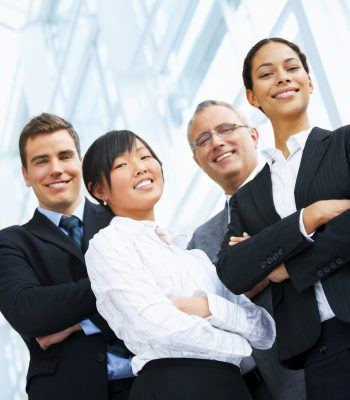 Portrait of a diverse business group. Happy and successful.